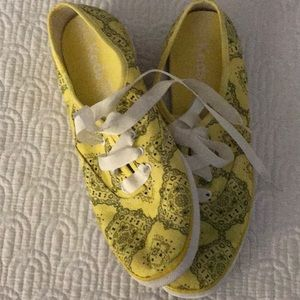 Yellow paisley KEDS sneakers loafer 38 us 8.5
